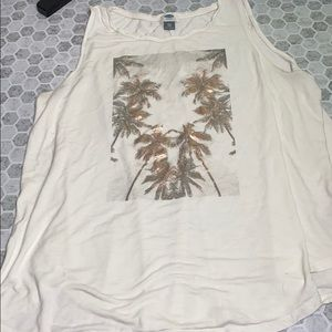 Old Navy XXL Palm Tree Graphic Tank Top